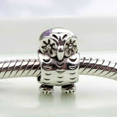 Owl Charm Bead 925 Sterling Silver Fits All Bracelets Fast Post • 4.99£