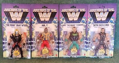 $104.40 • Buy WWE Masters Of The Universe Series Wave 4 Set Jake Snake Mr T Fiend Seth Rollins