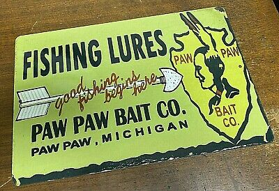 $ CDN38.91 • Buy Paw Paw Bait Fishing Lures Vintage Rustic Retro Aluminum Metal Sign 12  X 18