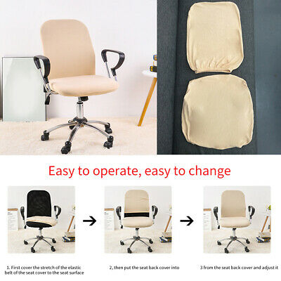 AU18.63 • Buy 2 Pieces Office Chair Cover Soft Split Stretch Case Protective Armchair Seat