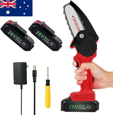 AU113.99 • Buy Brushless Mini Chainsaw 4 Inch Cordless Electric Protable Chainsaw With Battery