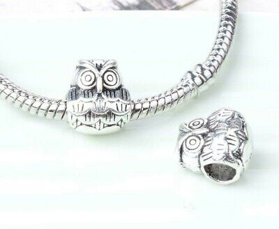 Chubby Owl Genuine S925 Sterling Dangle Silver Charm Fit All Bracelets • 7.45£