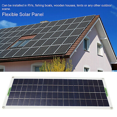10W Car Boat Yacht Solar Panel Flexible Battery Charger Outdoor Power Supply • 21.77£