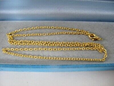 NEW Unworn Vintage 9ct GOLD Plated TRACE Chain NECKLACE 20 Inches Jewellery 4g • 6£