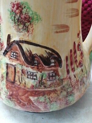 PRICE BROS JUG, HAND PAINTED VINTAGE  Cottage Ware Lovely For Cut Flowers 💐  • 5£