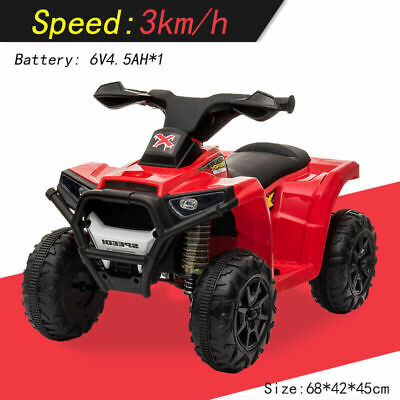 Kids Battery Powered Electric Ride On Quad Bike ATV Outdoor Children Toddler Toy • 15.49£