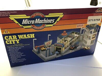 Micro Machines Vintage Car Wash City Galoob 1990 Boxed Opening Rare • 10.50£