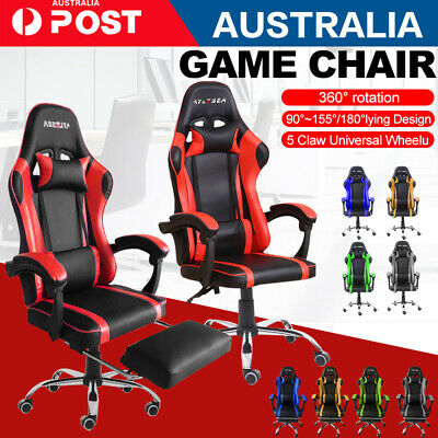 AU128.25 • Buy Gaming Chair Office Executive Computer Chairs Seating Racing Recliner 360°Swivel