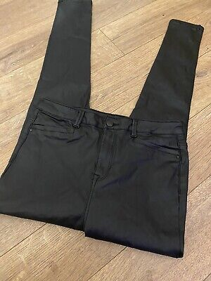 Ladies Faux Leather Jeans Trousers Very 14 • 4£