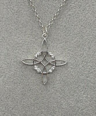 $ CDN38.78 • Buy Witches Knot-Sterling Silver 925 Pendant - 35 Mm- Large
