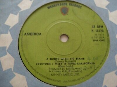 America......a Horse With No Name......7 ..1971......classic Rock • 1.50£
