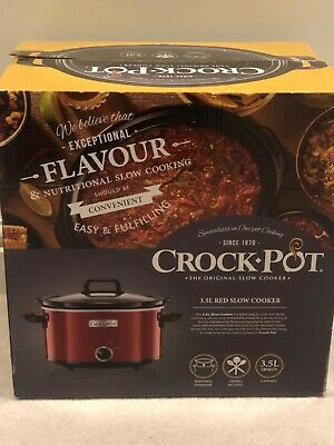 CROC-POT - THE ORIGINAL SLOW COOKER - 3.5L RED SLOW COOKER Brand New In Box • 22£