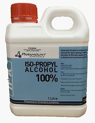 AU19.95 • Buy 1 L  Isopropyl Alcohol Pure- IPA Rubbing Alcohol 100% OZ Seller Free POSTAGE AU