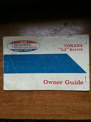 AU125.50 • Buy Holden Torana LJ GTR XU1 Glove Box Log Book Owner Guide