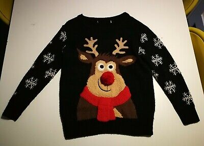 FAB Boys George Rudolph Christmas Jumper Size Age 5-6 Years Old Great For Xmas! • 3£