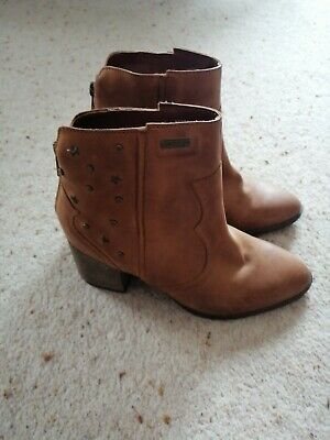 Superdry Womens Miley Ankle Boots Tan Size 3 Brand New  • 20£
