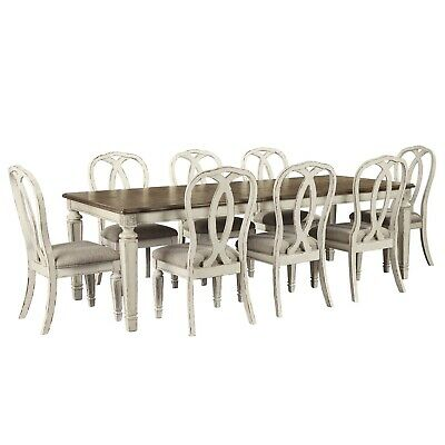 AU3290 • Buy NEW Juliet Extension Indoor Timber Dining Table And Chairs 6-8 Seater Setting