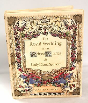 The Royal Wedding 1981 CHARLES & DIANA Stamp Book Album By STANLEY GIBBONS - W24 • 4.99£