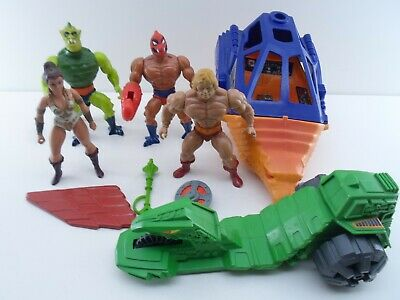 $0.99 • Buy He Man Masters Of The Universe Vintage 4 Action Figures & 2 Vehicles Lot Mixed