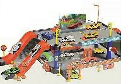 Super Car Parking Preschool Toy Garage Petrol Station Boys Xmas Gift Play Set • 14.49£
