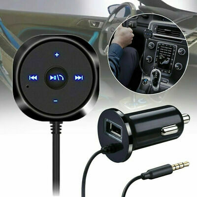 Car AUX Bluetooth Receiver Handsfree Kit FM Transmitter/MP3 Player/USB Charger • 9.99£