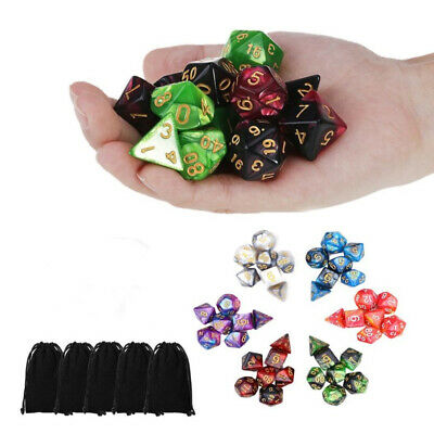 AU20.99 • Buy 6 Set 42pcs Polyhedral Dice DND RPG Game Poker Card Dungeons Dragons Party New