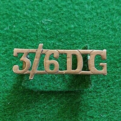 Original 3rd/6th Dragoon Guards Officer's Shoulder Title. Scarce 1922 Pattern  • 5£