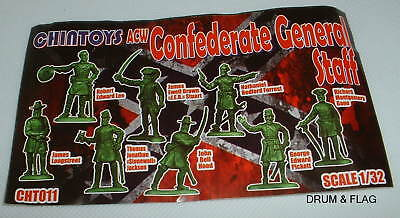 CHINTOYS Cht011 ACW CONFEDERATE GENERAL STAFF. AMERICAN CIVIL WAR. 1/32. C60mm • 24.75£