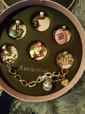 Stunning Juicy Couture  I Am The Fairest.  Goldtone With 7 Charms Bracelet  Rare • 220£
