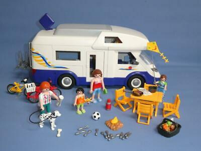 Playmobil Family Camper Van / Motorhome 4859 & Extras Figures Holiday Leisure • 9.99£
