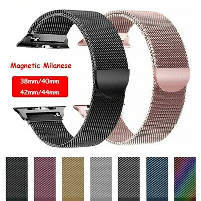 AU12.99 • Buy 40/44mm Magnetic Milanese Loop Band IWatch Strap For Apple Watch Series SE 6-1