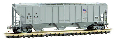 AU34.21 • Buy Micro-Trains MTL N-Scale 3-Bay Covered Hopper Car Union Pacific/UP (Gray) #81700