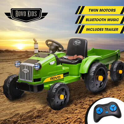 AU259 • Buy 【EXTRA10%OFF】ROVO KIDS Ride On Tractor Toy Electric Car Battery Kids