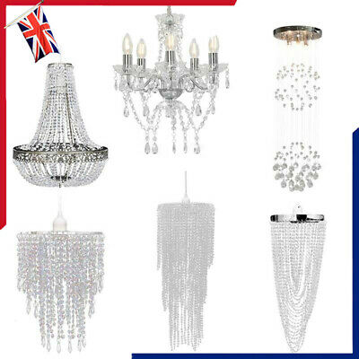 £24.81 • Buy Modern Crystal Pendant Chandelier Light Shades Droplet Ceiling Pendant Lampshade