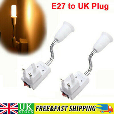 1/2 E27 Screw UK Plug In Light Bulb Kit E27 Lamp Fitting Switch Socket Holder UK • 6.69£