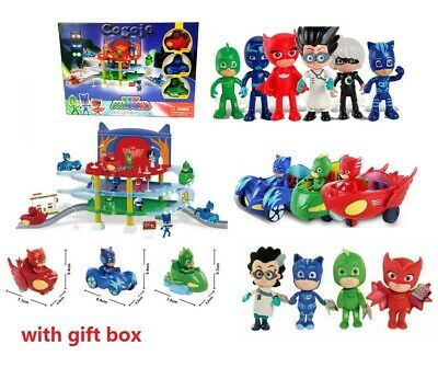 PJ Masks Action Figure Catboy Car Owlette Glider Gekko Mobile Toys UK Sotck • 9.99£