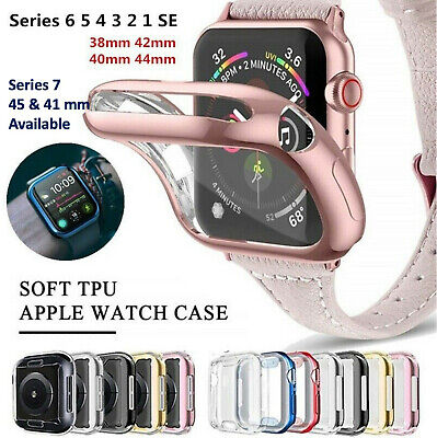 AU5.95 • Buy For Apple Watch Full Cover IWatch Series SE 6 5 4 3 Case, 44 42 40 38 Mm