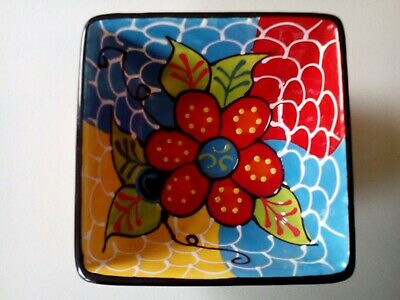 Large Tapas Dish Bowl Beautiful Authentic Hand Painted Spanish Ceramic Pottery • 7.99£