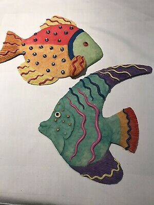 Ceramic Wall Plaques - Fishes • 8£