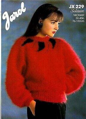 Jarol Solitaire Mohair KNITTING PATTERN, Women Sweater • 0.85£