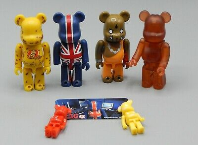 $56 • Buy 2002 Medicom Toy BE@RBRICK Bearbrick LOT Jellybean FLAG British BRAHMAN Rare !!!