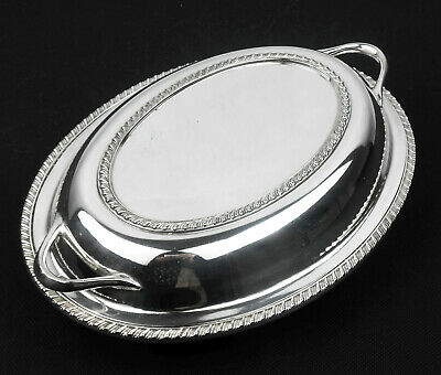 Cute Silver Plated Small Entree Dish - 2 Section Interior - Silver Plated • 21.99£