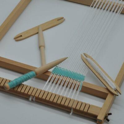 Beech Wood Weaving Shuttle Loom Knitting Tool Sweater Scarf Tapestry Coil Stick • 2.55£
