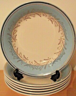 Six Vintage Barratts Delphatic Bowls  Blue White And Gold • 4.99£