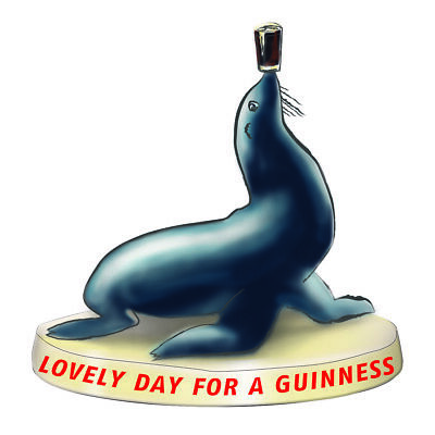 Guinness Seal Resin Figurine/ Statue 115mm X 95mm (sg) • 12.99£