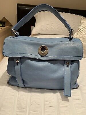 Ysl Muse Two Bag Used But Good Condition Soft Pale Blue Leather • 399£