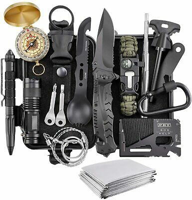 AU48.99 • Buy 16 In 1 SOS Kit Outdoor Emergency Equipment Box For Camping Survival Gear AU