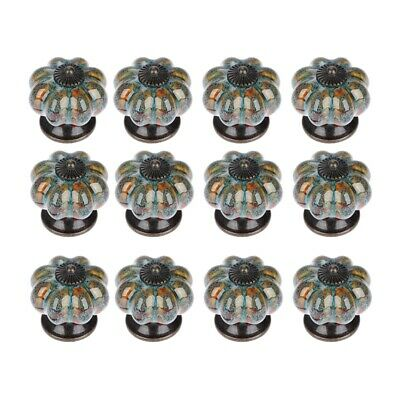 AU30.99 • Buy 1X(12Pcs Ceramic Door Knob Antique Pumpkin For Cabinets Cupboard Dresser DeI3H9)