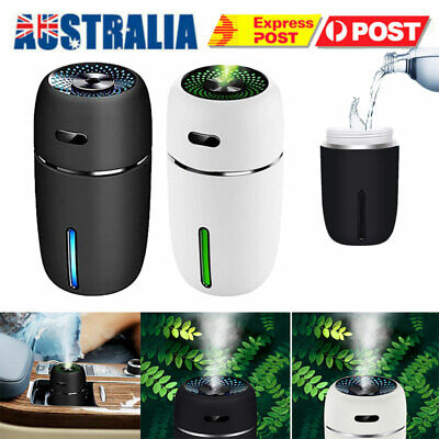 AU22.69 • Buy USB Air Diffuser Humidifier LED Portable Two Modes Essential Oil Mist Sprayer
