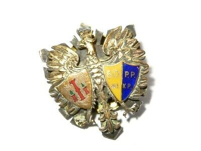 Polish Military Enamel Badge With Eagle 60 PP WLKP #B143 • 65£